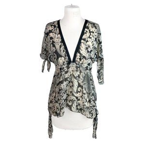 Anna Sui for Target M Medium Sheer Popover Blouse